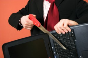 sawing computer 300x199 Do Your Life Coaching Clients Self Sabotage?