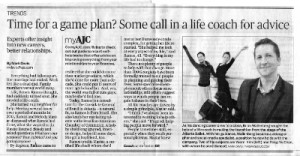 AJC article 300x156 Life Coaching: New Trend?