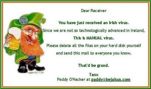 IrishVirus 300x177 St. Patrick . . . Or St Urho?